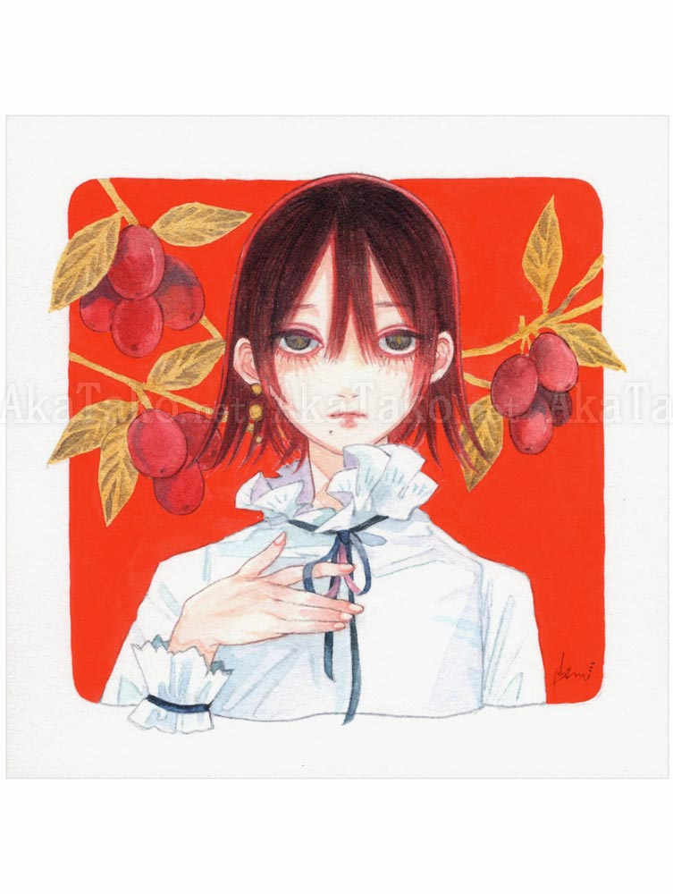 Em Nishizuka Original Painting Red Window