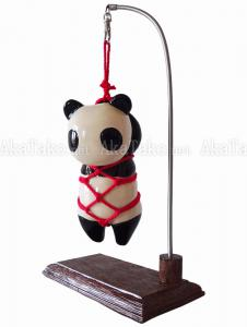 Suspended Panda Kinbaku Doll