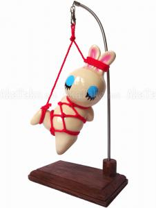 Suspended Bunny Kinbaku Doll front