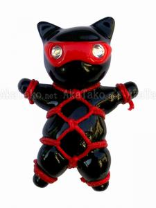 Red Mask Cat Karada Kinbaku Pin front