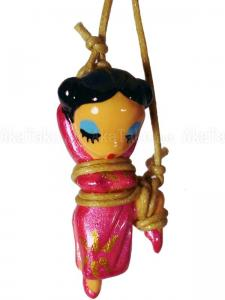 Chinese Lady One Leg Up Kinbaku Charm front