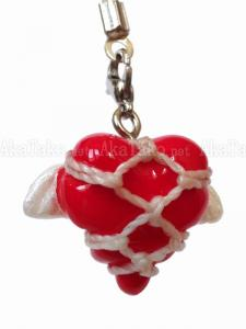Flying Heart Kinbaku charm front