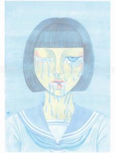 Chika Yamada Blue Melting Painting