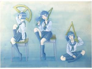 Chika Yamada Combat Class Painting
