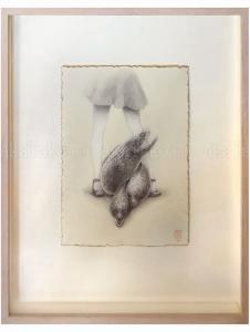 Fuco Ueda Original Drawing Moray and Girl