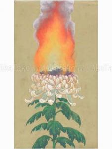 Fuco Ueda Flower of Bardo 1 original painting