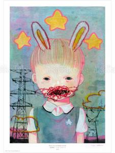Hikari Shimoda Power Line & Rabbit (Secret) poster SIGNED