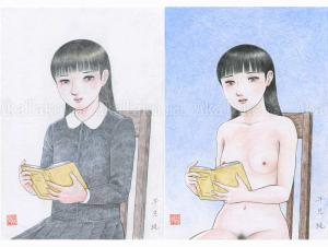 Jun Hayami Original Drawing Diptych