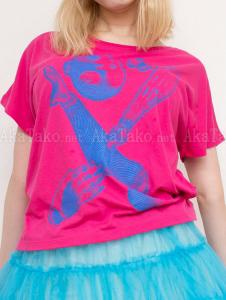 Mari Shimizu Scattered Limbs pink t-shirt