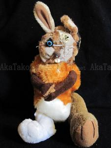 Minami Komori Button rabbit stuffed animal