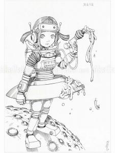 Shintaro Kago Black and White original drawing 12