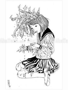 Shintaro Kago Black and White original drawing