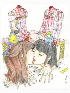 Shintaro Kago Funny Girl 113 original painting