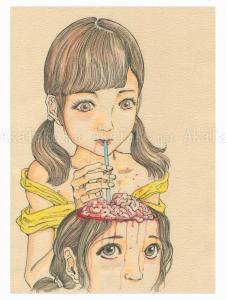 Shintaro Kago Funny Girl 117 original painting