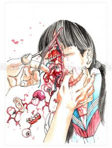Shintaro Kago Funny Girl 119 original painting