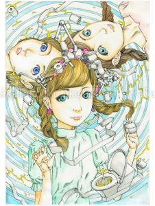 Shintaro Kago Original Painting Unko