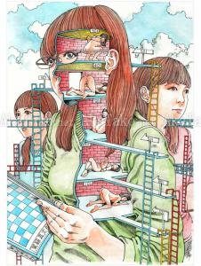 Shintaro Kago Erotic Original Painting 1