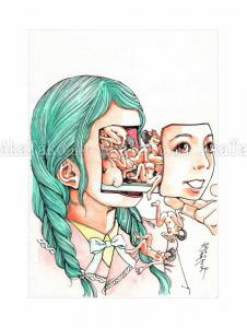 Shintaro Kago Erotic Original Painting 14