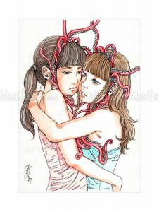 Shintaro Kago Erotic Original Painting 18