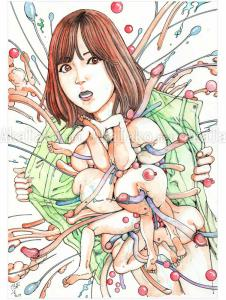 Shintaro Kago Erotic Original Painting 2