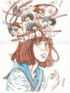 Shintaro Kago Erotic Original Painting 4