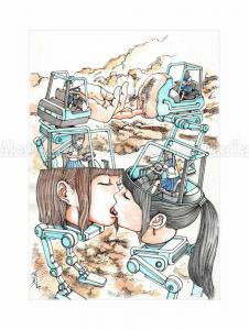Shintaro Kago Erotic Original Painting 5