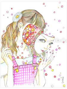 Shintaro Kago Polka Dot 3 original painting