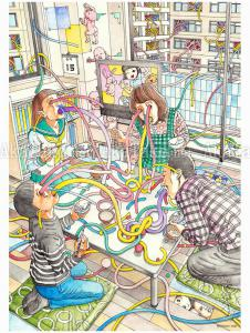 Shintaro Kago Family Portrait poster SIGNED