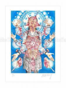 Shintaro Kago print Fetus Mandala SIGNED