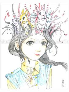 Shintaro Kago Rabbit original painting