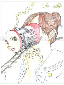 Shintaro Kago Railroad original painting