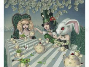 Trevor Brown Green Tea Party original painting