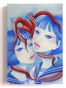 Chika Yamada Mini Original Painting Octopus