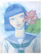 Chika Yamada Flower Blooming in Dreams Original Painting
