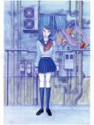 Chika Yamada Mediocre Every Day Original Painting