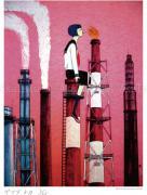 Chika Yamada Smoke Clouds Print - detail