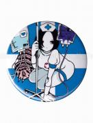 Em Nishizuka Blue Nurse Button