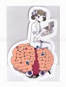 Em Nishizuka Pink Nurse Sticker