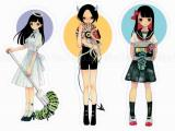 Em Nishizuka Sticker - Characters - Angel, Devil, or Sailor
