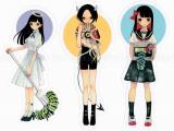 Em Nishizuka Sticker - Characters - Angel, Devil, or Sailor