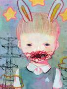 Hikari Shimoda Power Line & Rabbit poster detail