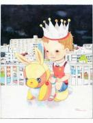 Hikari Shimoda Midnight Birthday Party original painting