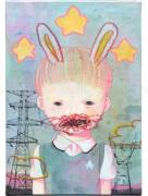 Hikari Shimoda Power Line & Rabbit (Secret) painting