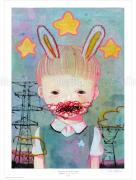 Hikari Shimoda Power Line &amp; Rabbit (Secret) poster SIGNED