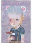 Hikari Shimoda Pretend You Don't Care painting