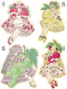Kira Imai Stickers - Strawberry, Lemon, Grape, or Cherry