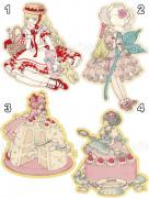 Kira Imai Stickers - Donuts, Rose, Kran, or Torte