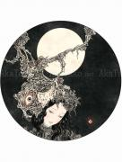 Takato Yamamoto Moon  Drunken by moonlight, melancholic ... painting