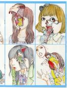 Shintaro Kago Collapsed Face Girls SIGNED - inside page