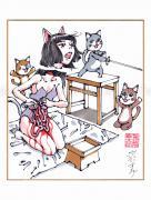Shintaro Kago Copic Marker Drawing 61